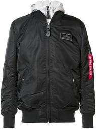 removable hoodie bomber jacket  Alpha Industries