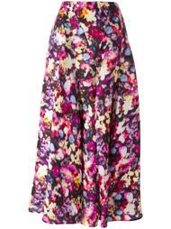 юбка с цветочным принтом   Nina Ricci