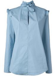 ruffled shoulders longsleeved blouse Nina Ricci