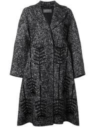 пальто с монохромным цветочным принтом   Alberta Ferretti