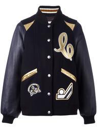 куртка-бомбер с нашивками Coach