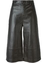 кожаные брюки-кюлоты Rag & Bone