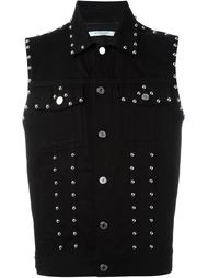 джинсовый жилет с заклепками  Givenchy