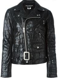 байкерская куртка с эффектом крокодиловой кожи Junya Watanabe Comme Des Garçons