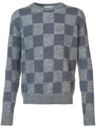 свитер вязки интарсия в клетку Ami Alexandre Mattiussi
