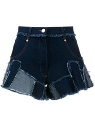 джинсовые шорты лоскутного кроя Natasha Zinko