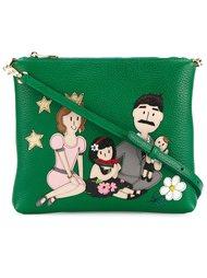 сумка через плечо с нашивками  Dolce & Gabbana