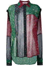 прозрачная рубашка лоскутного кроя Preen By Thornton Bregazzi