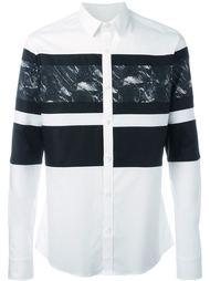 рубашка с узором блок принт Les Hommes Urban