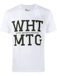 футболка с принтом логотипа   White Mountaineering