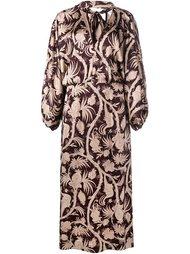 объемное платье с цветочным узором Zimmermann