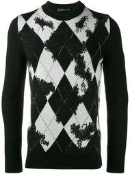 свитер с геометрическим узором  Alexander McQueen