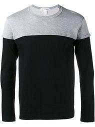 толстовка в стиле колор-блок  Comme Des Garçons Shirt