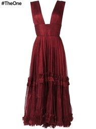платье с глубоким V-образным вырезом Maria Lucia Hohan