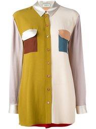 рубашка дизайна колор-блок Lanvin