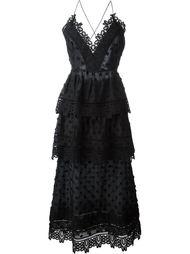 платье 'Ivy' с кружевной окантовкой Self-Portrait
