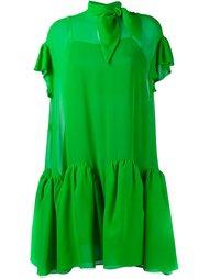 жоржетовое расклешенное мини-платье  Delpozo