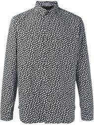 рубашка с цветочным принтом   Dior Homme