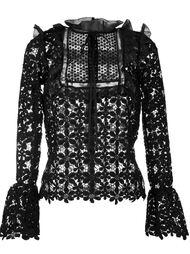 гипюровая блузка с цветочным узором Self-Portrait