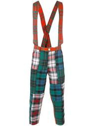 клетчатые брюки с подтяжками Comme Des Garçons Shirt Boy