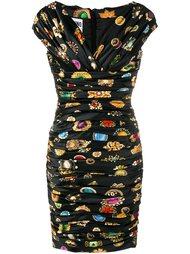 платье с оборками  Moschino