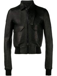 куртка с асимметричным воротником Rick Owens
