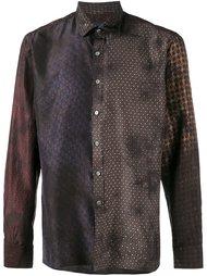 рубашка с рисунком в стиле пэчворк  Lanvin