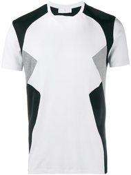 футболка с контрастной отделкой Neil Barrett