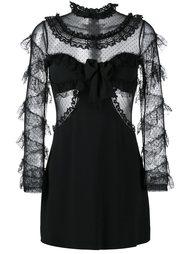 платье с рюшами Alessandra Rich