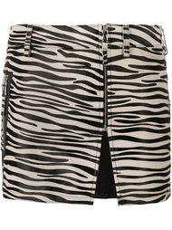 юбка мини с зебровым принтом Filles A Papa
