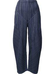 текстурированные укороченные брюки Pleats Please By Issey Miyake