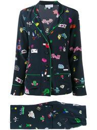 пижама с комбинированным принтом Mira Mikati