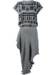 вязаное платье асимметричного кроя  Loewe
