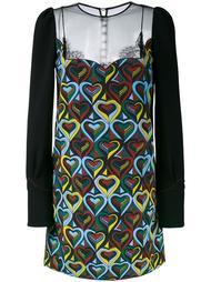 платье с принтом сердец  Mary Katrantzou