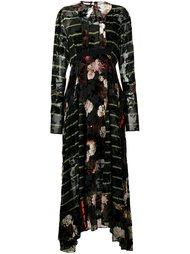 платье макси с узором Preen By Thornton Bregazzi