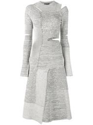 трикотажное платье с вырезными деталями Proenza Schouler
