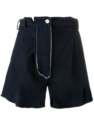 raw edge high waisted shorts Natasha Zinko