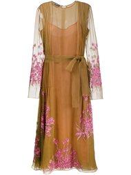 декорированное платье Rochas