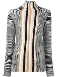 пуловер в полоску с круглым вырезом Missoni