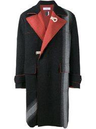 пальто с контрастными лацканами    Facetasm