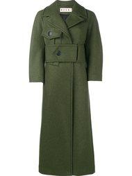 удлиненное пальто с поясом Marni