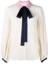 блузка с контрастным воротником 'Kellaway' Roksanda