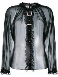 прозрачная блузка с рюшами Dolce & Gabbana