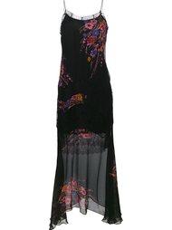 платье с кружевными вставками и цветочным принтом Etro