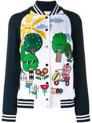 куртка-бомбер с нашивками Mira Mikati