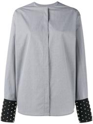 клетчатая рубашка с отделкой на манжетах J.W.Anderson