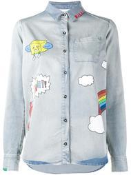 джинсовая рубашка с принтами Mira Mikati