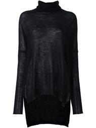 блузка с удлиненной спинкой и отворотной горловиной Isabel Benenato
