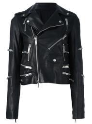 байкерская куртка с отделкой молниями Unravel Project
