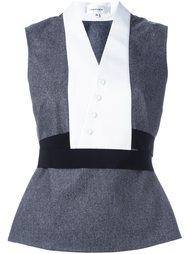 блузка дизайна колор-блок Carven